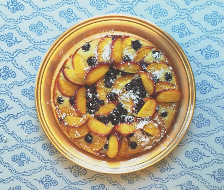Peach & Blueberry Greek Yogurt Cake (Recipe)